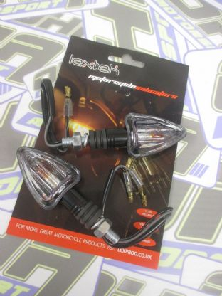 Lextek 12v Mini Black Arrow Indicators - E Marked